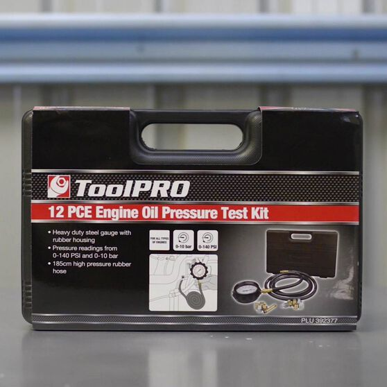 ToolPRO Engine Oil Pressure Test Kit 12 Piece, , scanz_hi-res