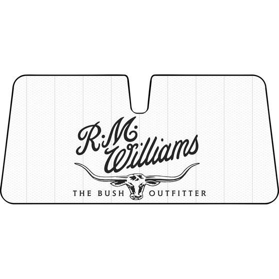 R.M. Williams Logo Sunshade Cream Accordion Front, , scanz_hi-res