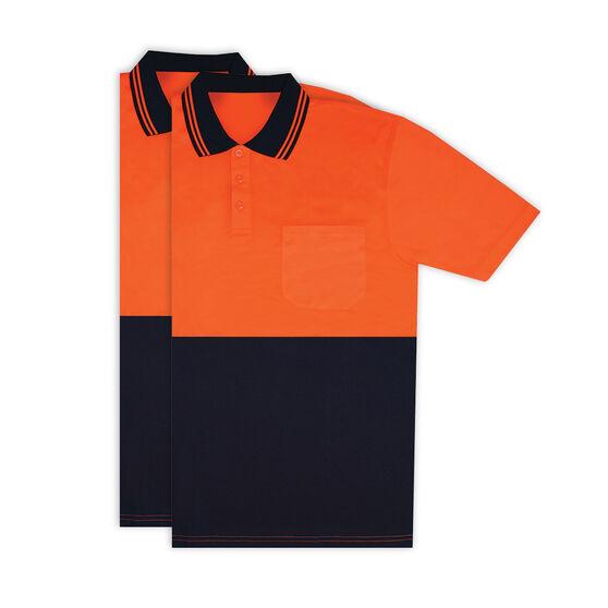 Hi Vis Short Sleeve Polo - Orange 2 Pack M, , scanz_hi-res