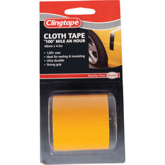 Clingtape Cloth Tape - Yellow, 48mm x 4.5m, , scanz_hi-res