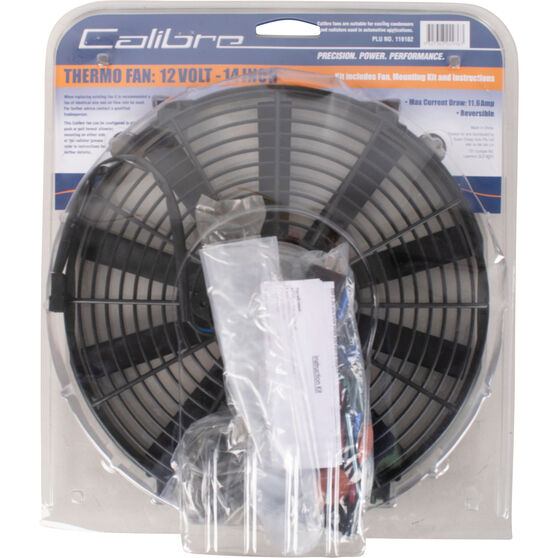 Calibre Thermo Fan - 12 Volt, 14 inch, , scanz_hi-res