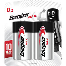 Energizer Max D Batteries - 2 Pack, , scanz_hi-res