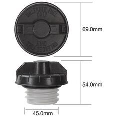 Tridon Non-Locking Fuel Cap TFNL231, , scanz_hi-res