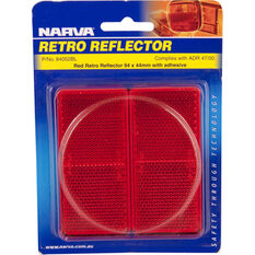 Narva Reflector - Red, 94 x 44mm, Rectangle, 2 Pack, , scanz_hi-res