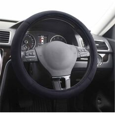 SCA Steering Wheel Cover - Suede Velour, Black, , scanz_hi-res
