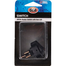 SCA Switch - Rocker, Off / On, Red LED, , scanz_hi-res