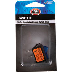 SCA Switch - Rocker, Off / On, Illuminated, Blue, , scanz_hi-res
