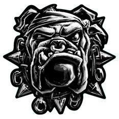 Hot Stuff Sticker - Bulldog, Chrome, , scanz_hi-res