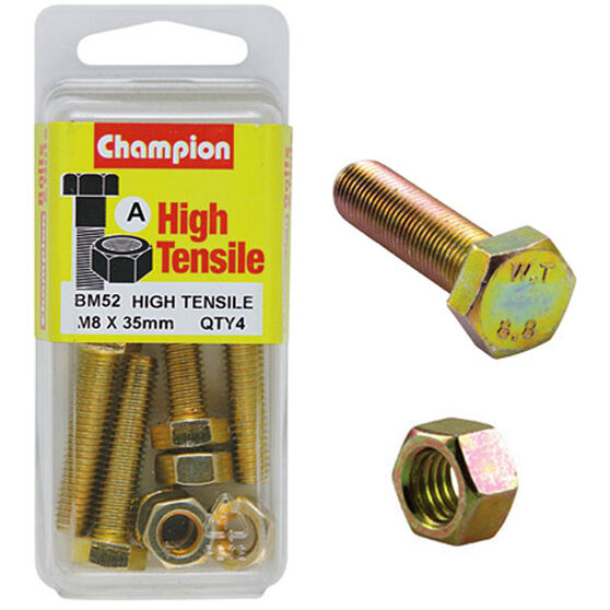 Champion High Tensile Bolts and Nuts - M8 X 35, , scanz_hi-res