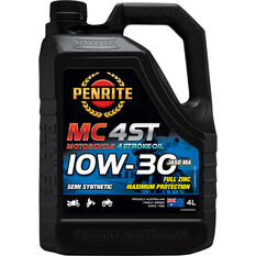 Penrite MC-4 Semi Synthetic Motorcycle Oil - 10W-30, 4 Litre, , scanz_hi-res