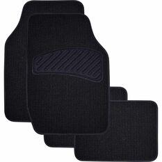 SCA Loop Pile Floor Mats - Carpet, Black, Set of 4, , scanz_hi-res
