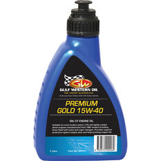 Gulf Western Premium Gold Engine Oil 15W-40 1 Litre, , scanz_hi-res