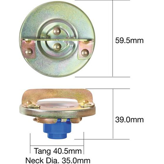 Tridon Non-Locking Fuel Cap TFNL214, , scanz_hi-res