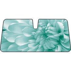 Flower Sunshade - Aqua, Accordion, Front, , scanz_hi-res