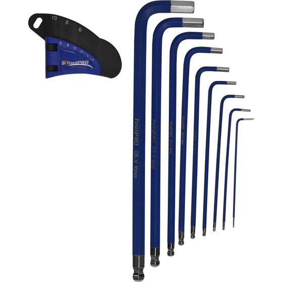 ToolPRO Long Hex Key Set - Metric, 9 Pieces, , scanz_hi-res