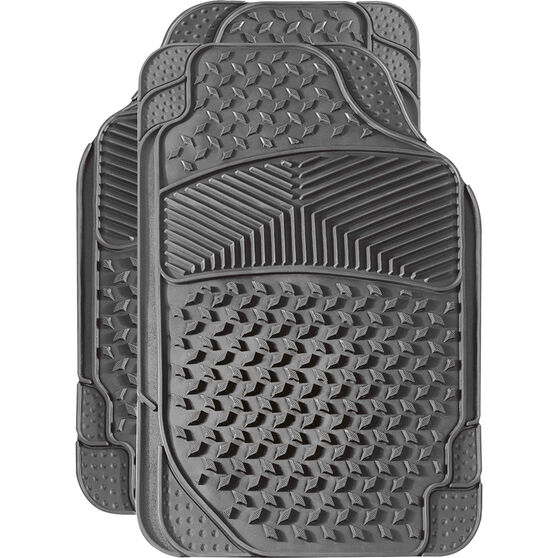 SCA Car Floor Mats - Rubber, Grey, Front Pair, , scanz_hi-res
