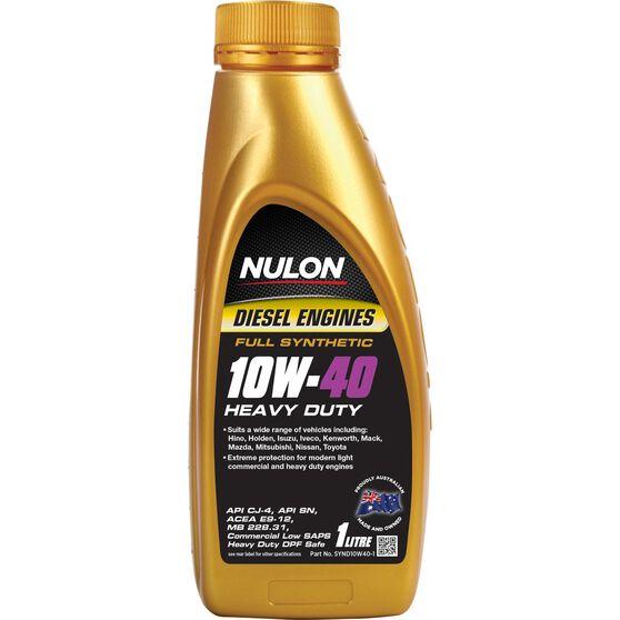 Nulon Full Synthetic Heavy Duty Diesel Engine Oil - 10W-40 1 Litre, , scanz_hi-res