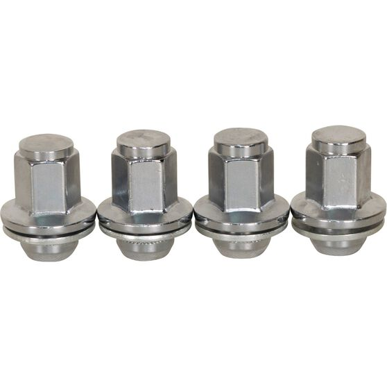 Calibre Wheel Nuts, Shank, Chrome, For Toyota Landcruiser - 5 Stud, MN14150LC, 14mm x 1.5mm, , scanz_hi-res