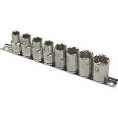 Socket Rail Set - 1/2 Drive, Metric, 8 Piece, , scanz_hi-res