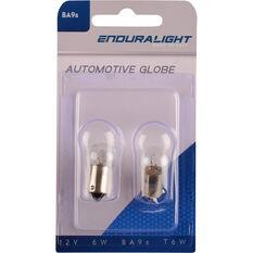 Enduralight Automotive Globe - Dash / Number Plate, 12V, 6W, 2 Pack, , scanz_hi-res
