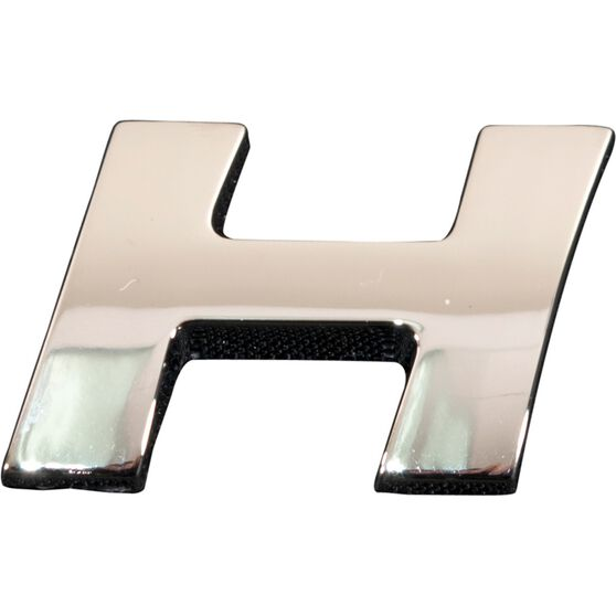 SCA 3D Chrome Badge Letter H, , scanz_hi-res