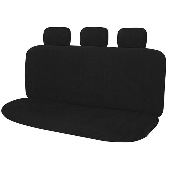 Suede Velour Car Seat Cover - Black, Adjustable Headrests, Size 06, Rear Seat, , scanz_hi-res