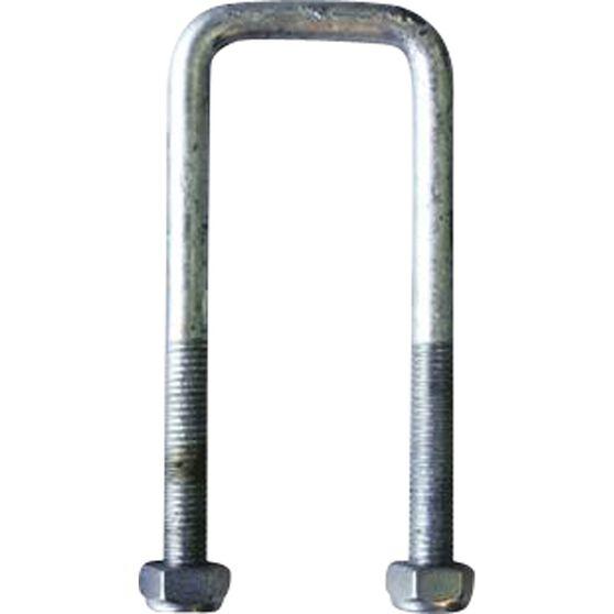 Trojan Axle U bolt - Galvanised, 51mm x 130mm x 12mm, , scanz_hi-res