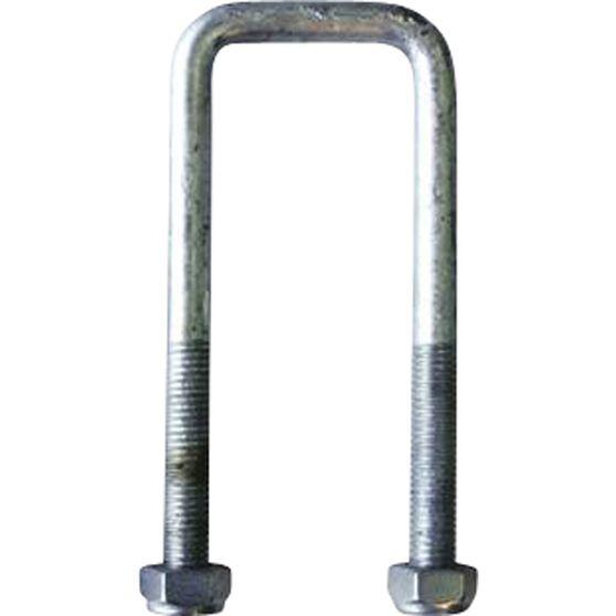 Trojan Axle U Bolt - Galvanised, 51 x 100mm x 12mm, , scanz_hi-res