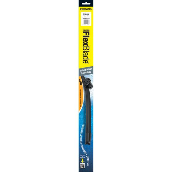 Tridon Flex Blade Single Wiper - 16in, Side Lock, , scanz_hi-res