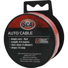 SCA Auto Cable - 15 AMP, 4mm, 4m, Red, , scanz_hi-res