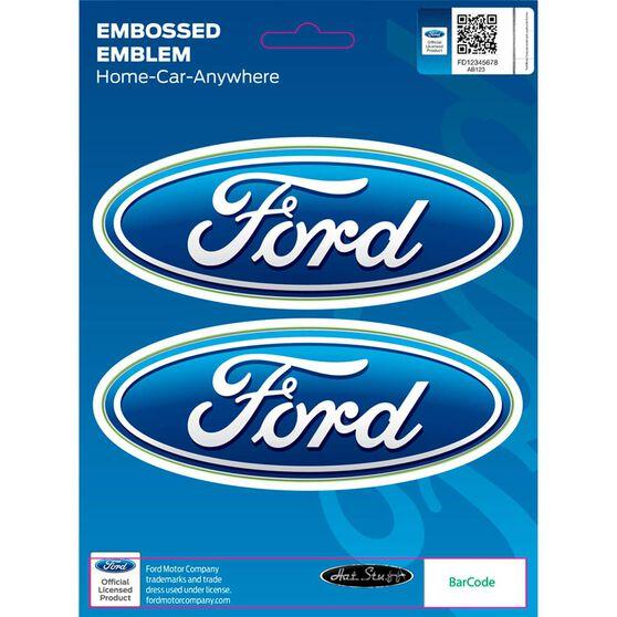 Sticker - Ford Classic Emblem, Chrome, , scanz_hi-res