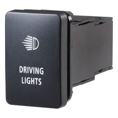 Narva OE Style Switch - Suits Toyota Landcruiser Prado 150-200 Series, Driving Lights Push On/Off Blue LED, Toyota, 63304BL, , scanz_hi-res