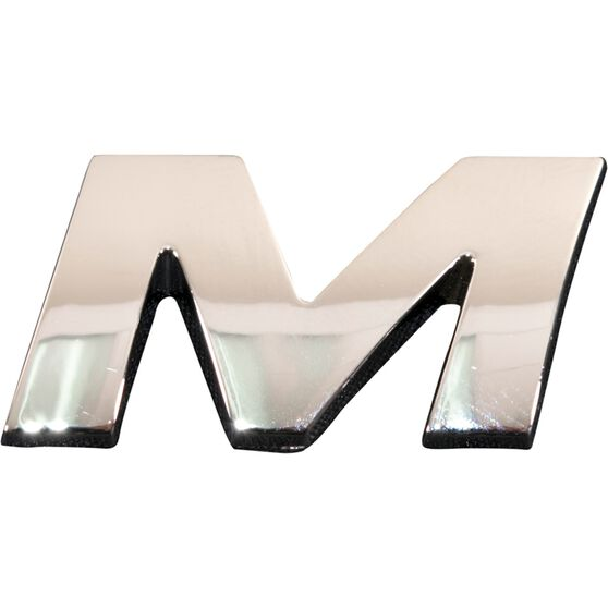 SCA 3D Chrome Badge Letter M, , scanz_hi-res