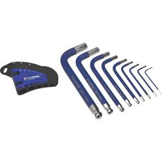 ToolPRO Short Hex Key Set - Metric, 9 Pieces, , scanz_hi-res