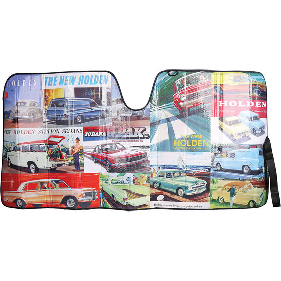 Holden Heritage Classic Cars Sunshade Accordion Front, , scanz_hi-res
