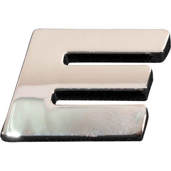 SCA 3D Chrome Badge Letter E, , scanz_hi-res
