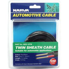 Narva Automotive Cable Twin Sheath 10 Metres 3mm 10 AMP, , scanz_hi-res
