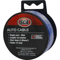 SCA Auto Cable - 15 AMP, 4mm, 4m, Blue, , scanz_hi-res