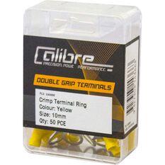 Crimp Terminal Ring Yellow 10Mm - 50 Pack, , scanz_hi-res