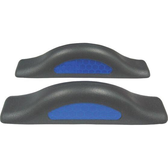 SCA Door Protectors - Black With Blue Reflectors, 2 Pack, , scanz_hi-res