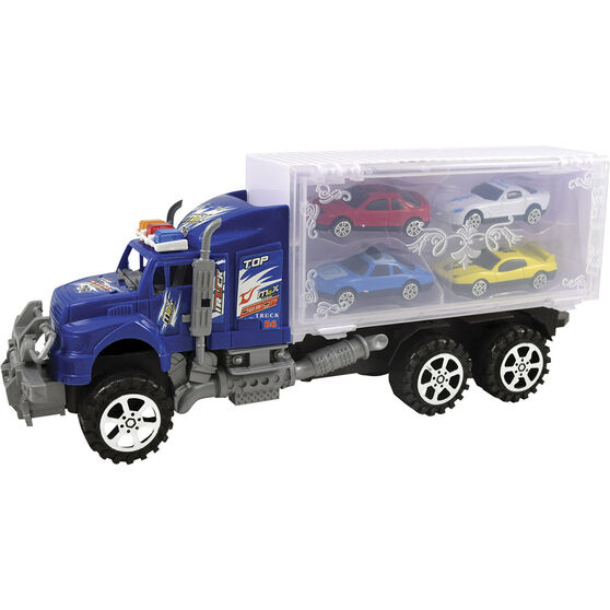 Plastic Truck Carrier with vehicles, , scanz_hi-res