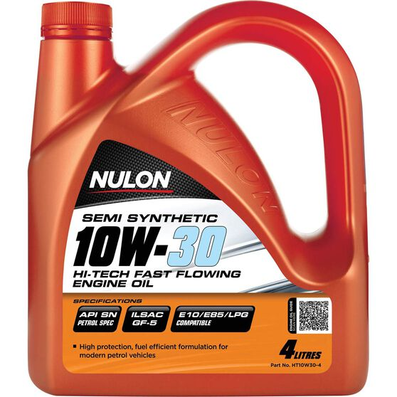 Nulon Hi-Tech Fast Flowing Engine Oil - 10W-30 4 Litre, , scanz_hi-res