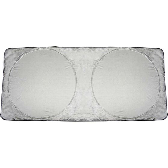 SCA Twin Circle Sunshade - Silver, Spring, Front, , scanz_hi-res