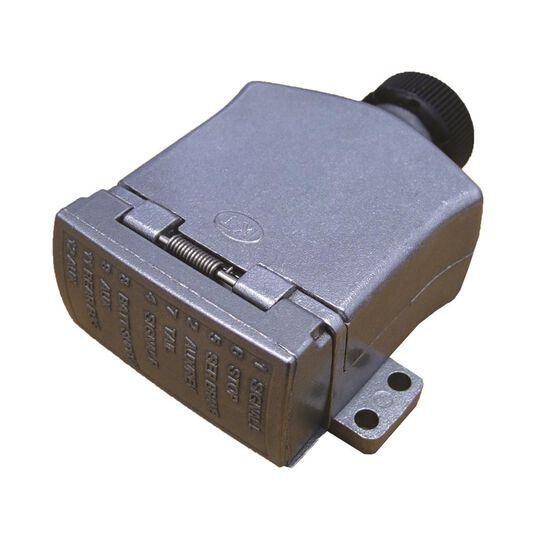 KT Cable Trailer Socket, Metal - Flat, 12 Pin, , scanz_hi-res