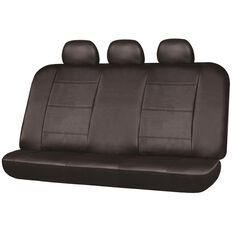 SCA Leather Look Seat Covers - Black, Built-in Headrests, Size 06H, Rear Seat, , scanz_hi-res