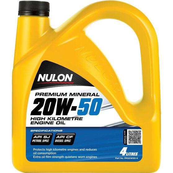 Nulon Premium Mineral High Kilometre Engine Oil - 20W-50, 4 Litre, , scanz_hi-res