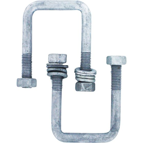 Trojan Axle U Bolt - Galvanised, 51mm x 85mm x 12mm, , scanz_hi-res