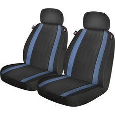 Dickies Roadhouse Seat Covers Black/Blue Adjustable Headrests Airbag Compatible, , scanz_hi-res