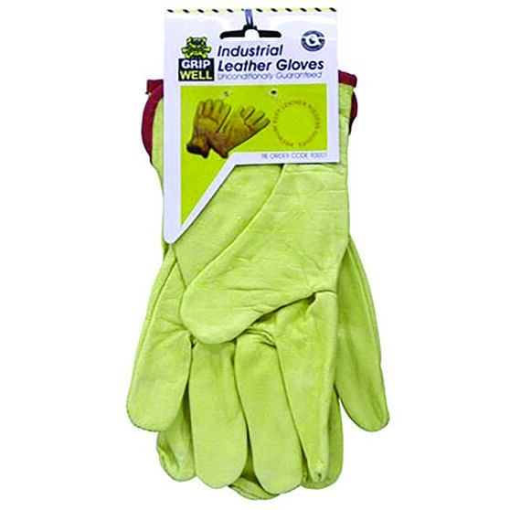 Work Gloves - Leather, Industrial, , scanz_hi-res