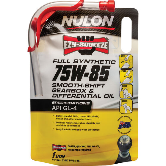 NULON EZY-SQUEEZE Smooth Shift Gearbox & Differential Oil - 75W-85, 1 Litre, , scanz_hi-res